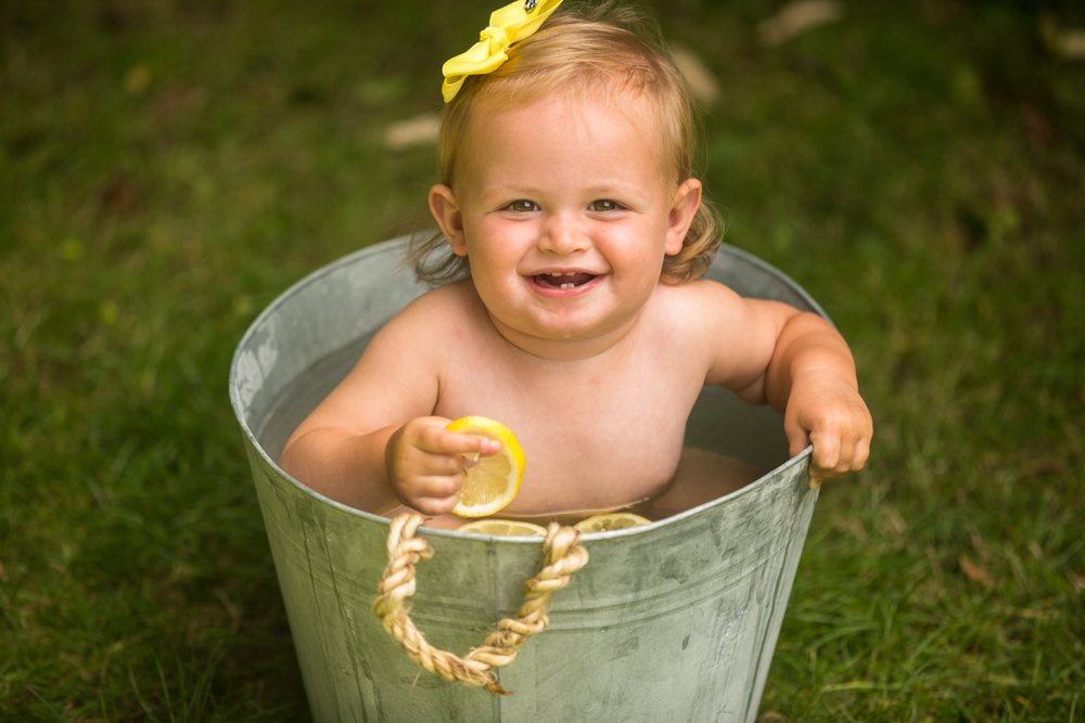 baby photographer in chandlers ford captures a baby fruit shoot