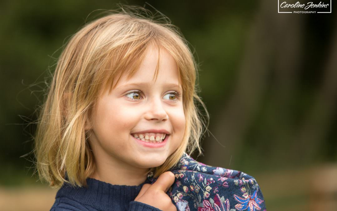 family photo shoot in chandlers ford - young girl