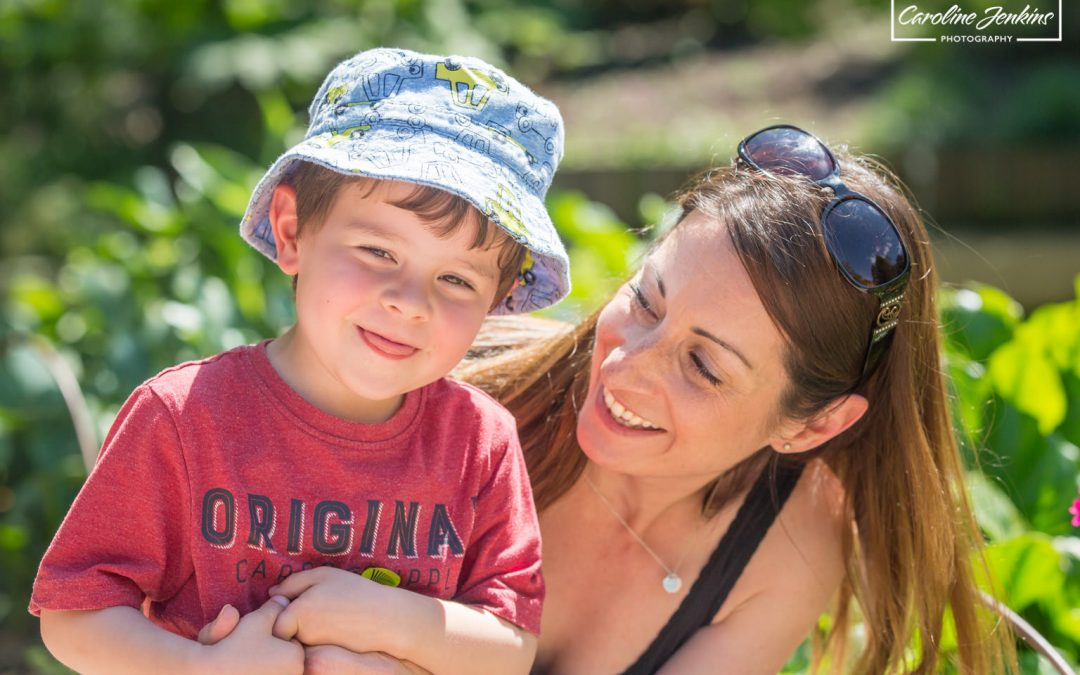 children's photographer in Winchester Caroline Jenkins Photography captures a beautiful moment between mummy and son