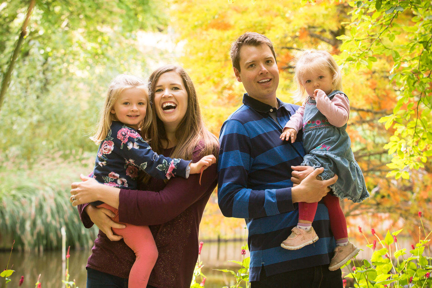 Hilliers photography - family in autumn