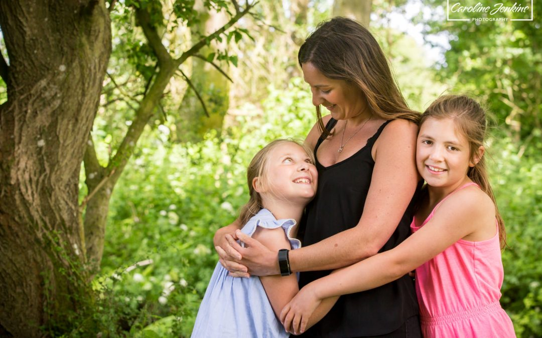 Children's photography in Winchester - A mother and daughter family shoot at Chilbolton common